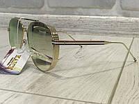 ХИТ!Шикарные солнцезащитные очки в линза зеркало оправа металл 1754, фото 1