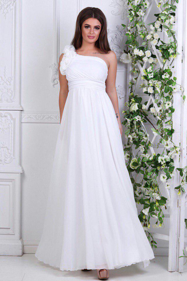 27654e86ef5 Длинное белое свадебное платье - Интернет-магазин