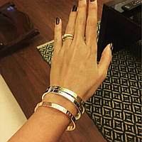 Элегантный браслет Cartier Love цвет золото без камней (реплика), фото 1