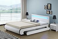 Кровать белая 140x200 LED BILBAO