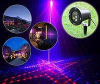 Уличный лазерный проектор рисунки фейерверки красный синий Ecolend 31 3, фото 1