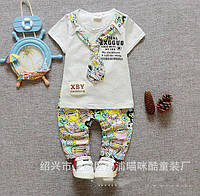 Нарядний костюм літній для хлопчиків сірий 6349 6a0bddd859439