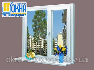 Окно Steko R600 (две створки, одно открытие)