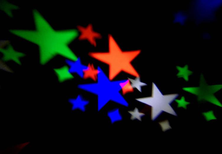 Светодиодный лазерный уличный проектор Ecolend  30 24 разноцветные звезды  IP44 4W
