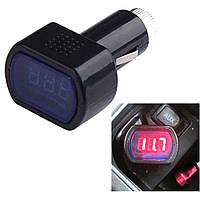 Автомобильный LCD-вольтметр измеритель напряжения в прикуриватель