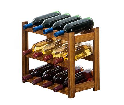Винная полка  деревянная RW-1-12 на 12 бутылок