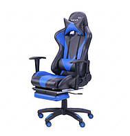 Кресло VR Racer Magnus черный/синий(рэйсер)