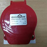 Розетка (гніздо) стаціонарна ECOНОМЕ ГC 16А/5 3Р+N+РЕ (ECO-115) / ECO-115 (ГC 16А/5 3Р+N+РЕ)