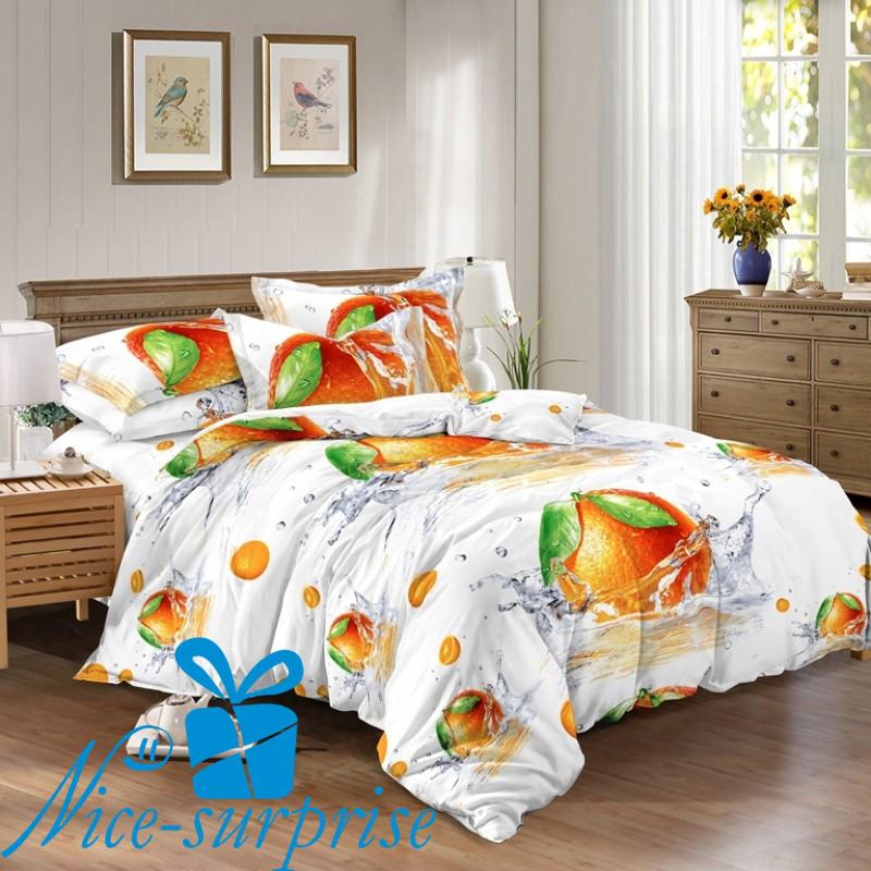 fd3f2feb12af Семейный комплект постельного белья из сатина АПЕЛЬСИН - Интернет-магазин  подарков и сувениров Nice-