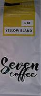 Кофе зерновой свежеобжаренный  Arabica-50%, Robusta-50%,1 кг, Seven coffee yellow bland
