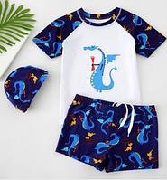 Детские плавки-шорты, футболка и шапочка для купания 10111-2