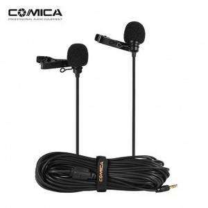 Подвійний петличний мікрофон Comica CVM-D02 для камери/смартфона/GoPro