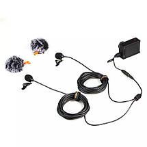 Подвійний петличний мікрофон Comica CVM-D02 для камери/смартфона/GoPro, фото 3