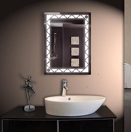 Зеркало LED со светодиодной подсветкой ver-3065 600х800 мм, фото 2