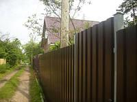 Заборный профнастил, профлист на забор, металлопрофиль для забора