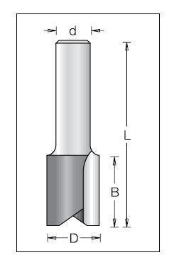 Фреза DIMAR прямая D=8 B=19 L=51 d=6 d=6