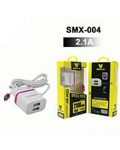 СЗУ SENMAXU 2в1 Micro SMX-004 (2 USB/2.1 A)