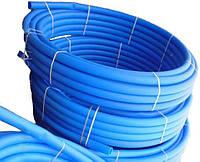 Труба ПЭ для водоснабжения (голубая) ф 32x2.2мм, 200мп, 8 атм (Польша)