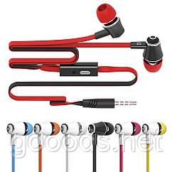 Вакуумные наушники с микрофоном и разъемом 3,5 мм