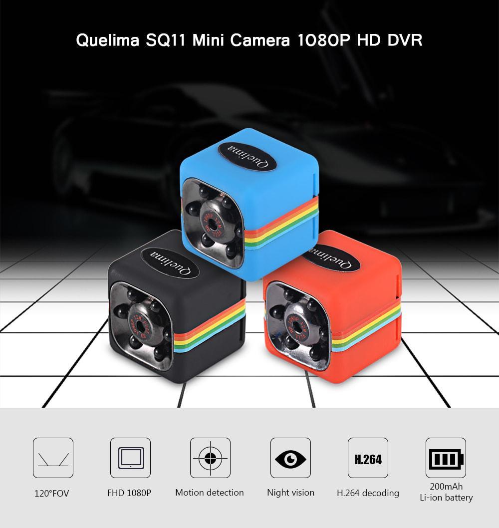 Мини камера Quelima SQ11 1080P 1.2 Мп HD регистратор, экшн камера