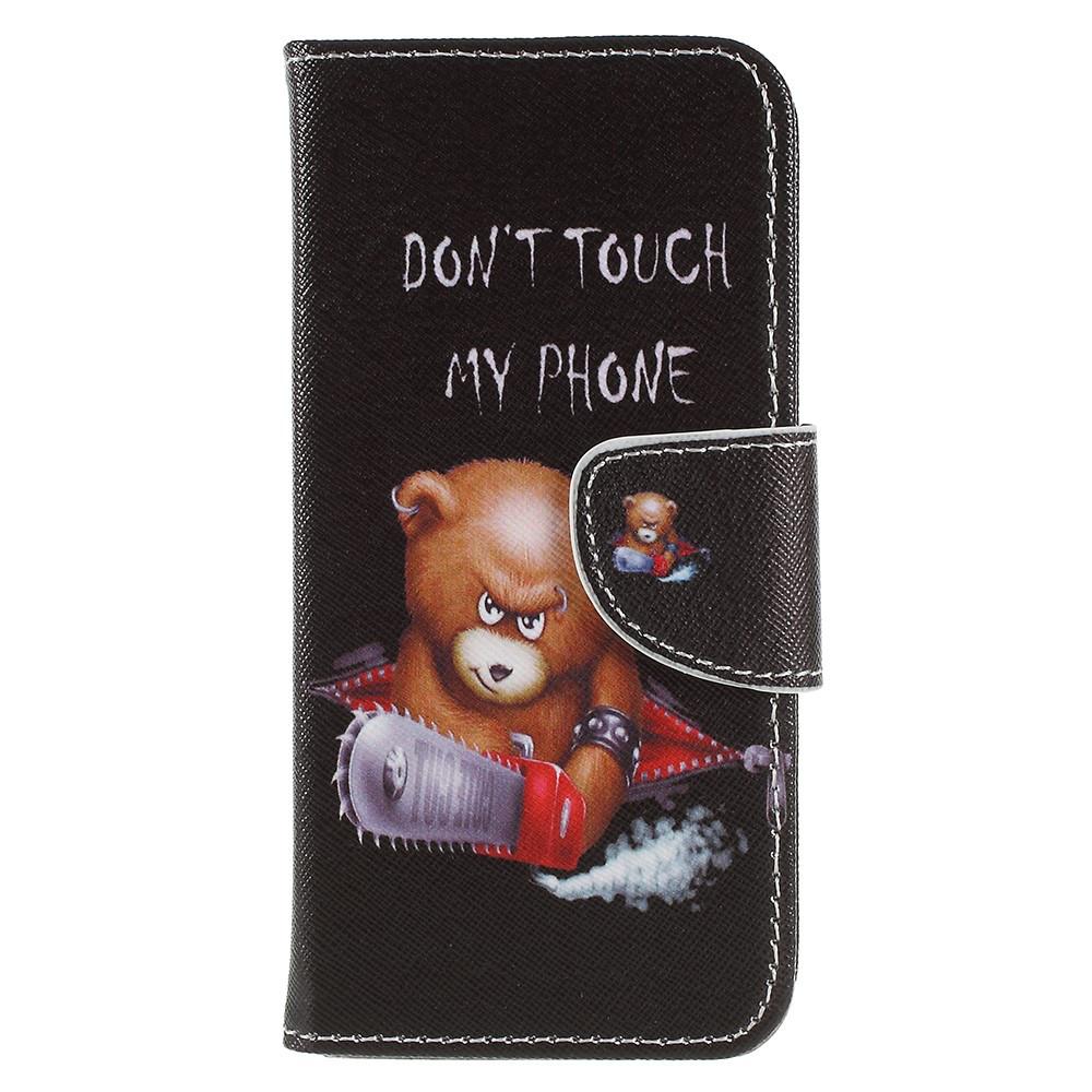 Чохол книжка для Sony Xperia XZ2 Compact H8324 бічній з відсіком для візиток, Грізний ведмедик