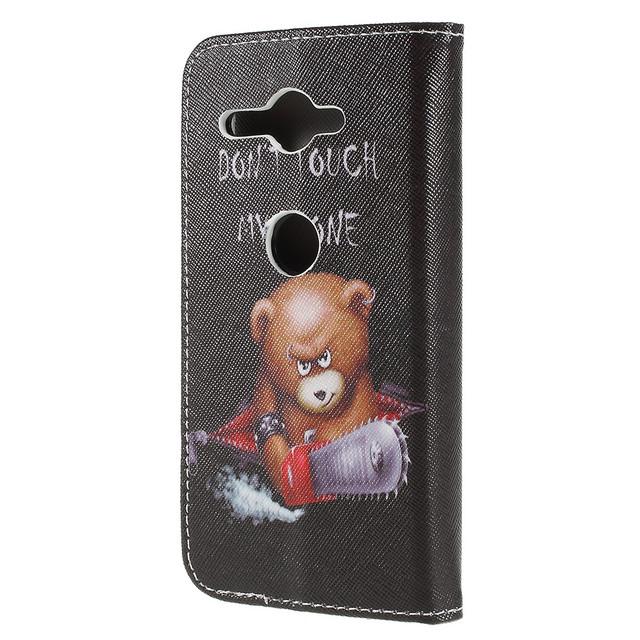 чохол книжка Sony Xperia XZ2 Compact з грізним мишком
