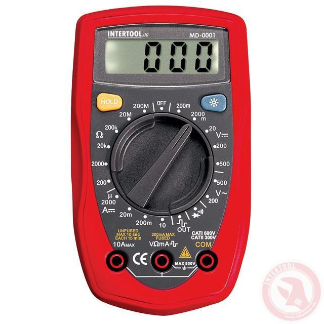 Мультиметр цифровой CAT II-300В/CAT I-600В