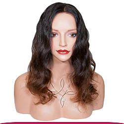 Перука з Натурального Волосся 40-45 см 215 грам, Омбре №1B-04