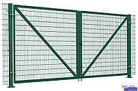 Ворота металлические из сетки рабица 1 х 1,5 | Распашные секционные ворота из сетки