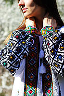 Жіноча вишиванка з гуцульським орнаментом ручної роботи, фото 1