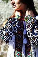 Жіноча вишиванка з гуцульським орнаментом ручної роботи