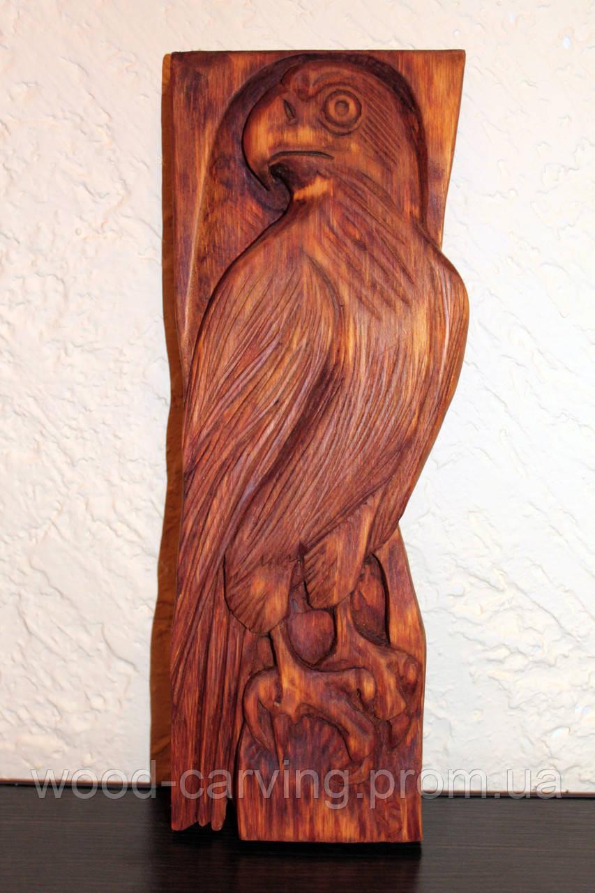 """Дерев'яне панно """"Сокіл"""". Різьба по дереву"""