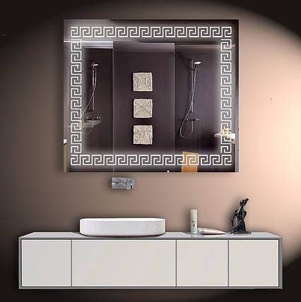Зеркало LED со светодиодной подсветкой ver-3072 800х700 мм, фото 2