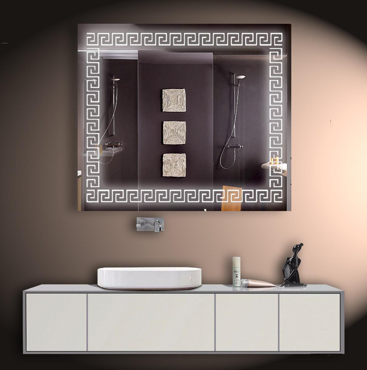 Зеркало LED со светодиодной подсветкой ver-3072 800х700 мм