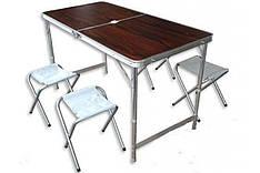 Стол раскладной для пикника 120*60 см и 4 стула
