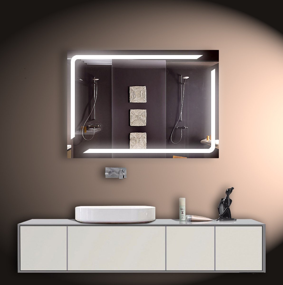 Зеркало LED со светодиодной подсветкой ver-3073 1000х700 мм