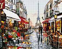 "Набір для алмазної мозаїки ""Паризька вулиця"" 40х50см  GF1198"