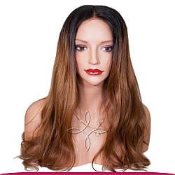 Перука з Натурального Волосся 55-60 см 220 грам, Омбре №02-06