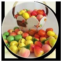 Искусственные фрукты, овощи, ягоды, грибы, орехи