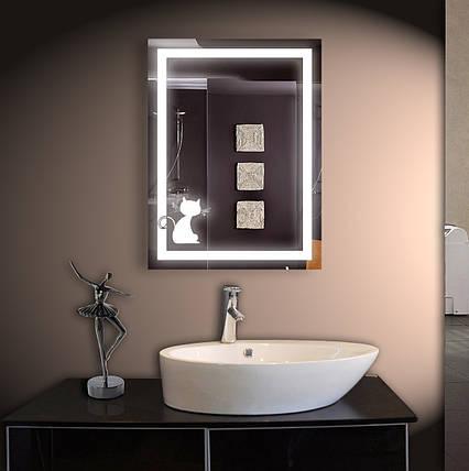 Зеркало LED со светодиодной подсветкой ver-3076 600х800 мм, фото 2