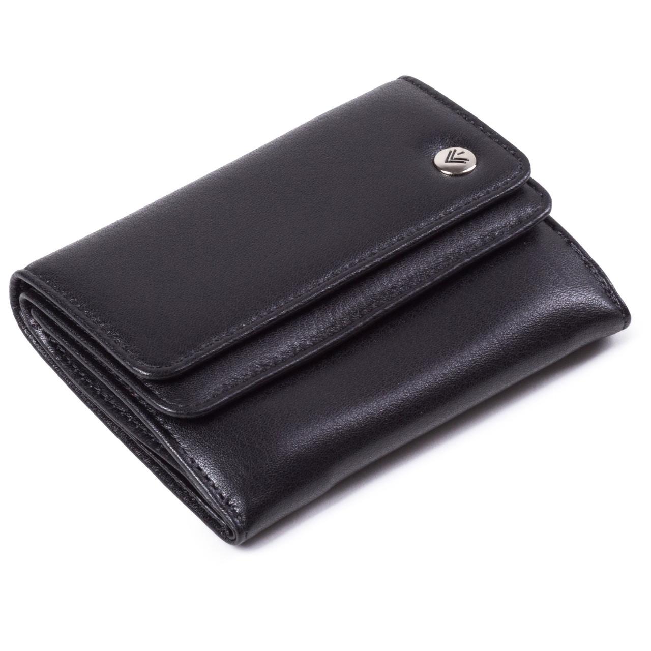 Женский кошелек кожаный черный Eminsa 2056-12-1