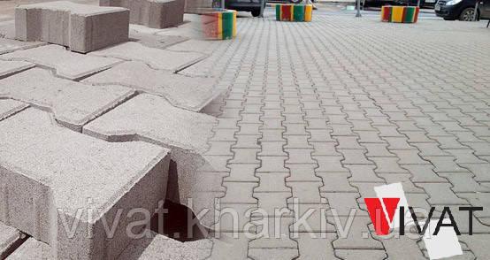 Тротуарная плитка Т-двойное (катушка) 200х165х80 мм