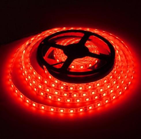Светодиодная лента LED 24V, SMD5050, IP20, 60 д/м, красный