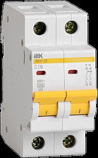 Автоматичний вимикач ВА 47-29М 2Р 16А ІЕК
