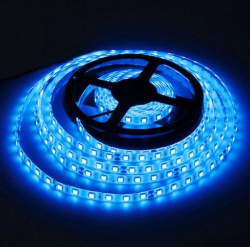 Светодиодная лента LED 24V, SMD5050, IP20, 60 д/м, синий
