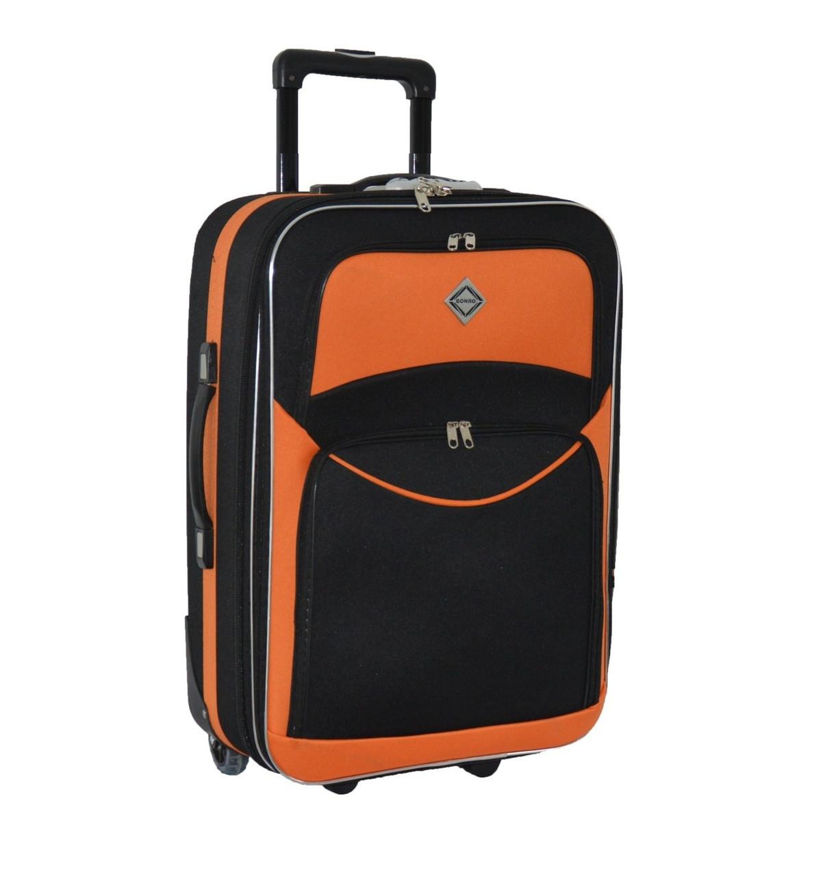 Дорожный чемодан на колесах Bonro Best Черно-оранжевый Большой