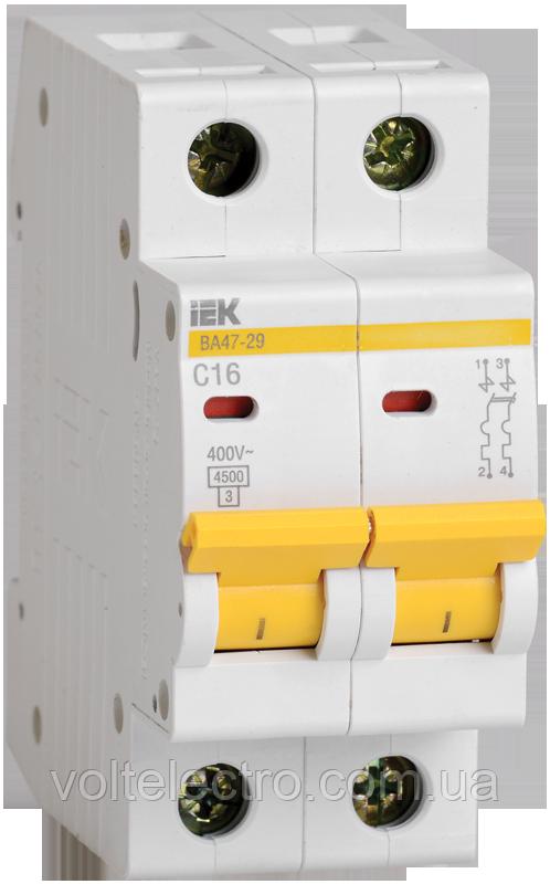 Автоматический выключатель ВА 47-29М 2Р 32А ІЕК