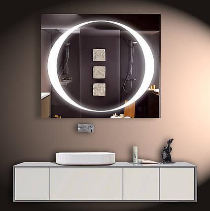 Зеркало LED со светодиодной подсветкой ver-3080 800х700 мм, фото 2