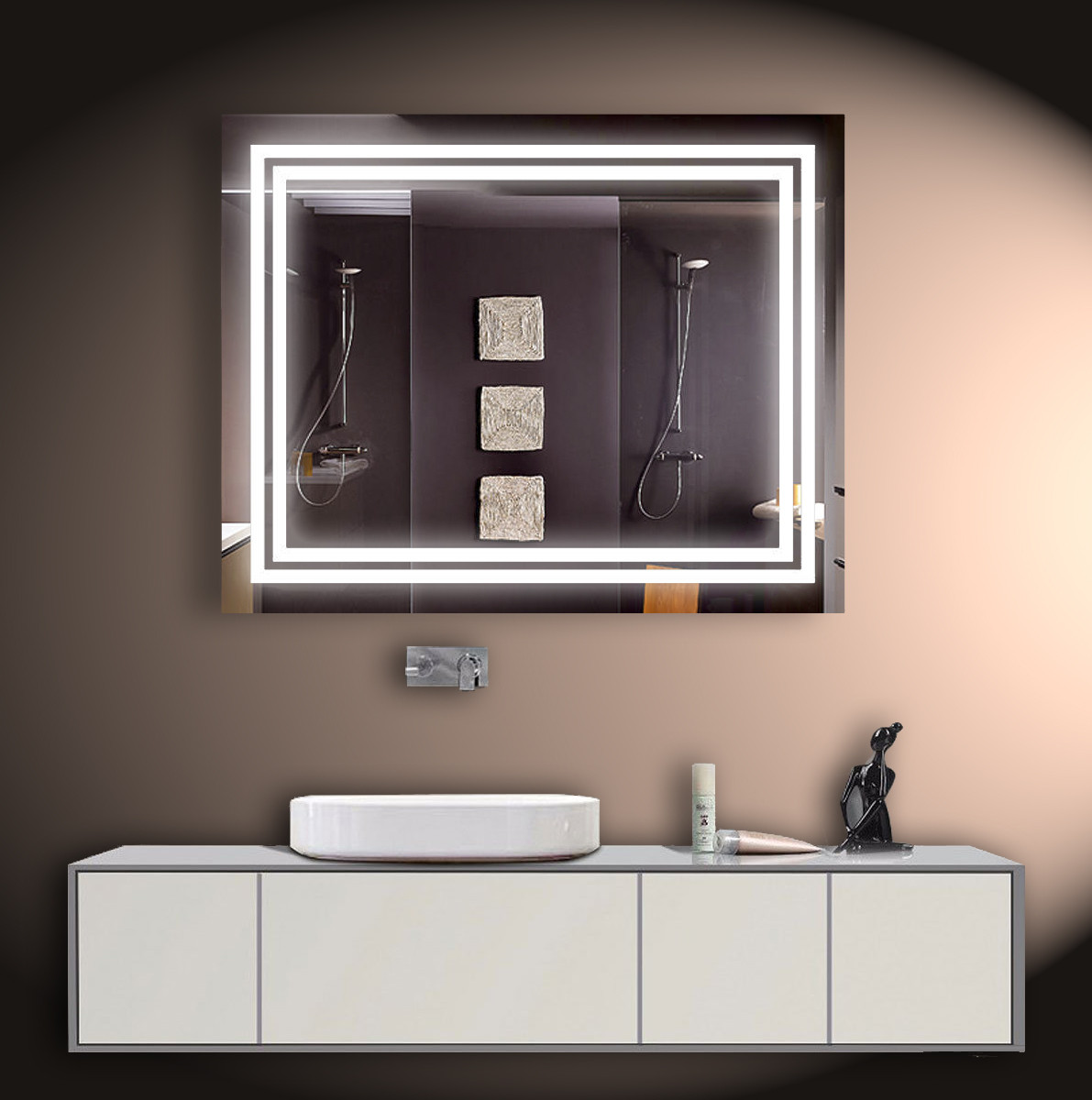 Зеркало LED со светодиодной подсветкой ver-3081 1000х800 мм