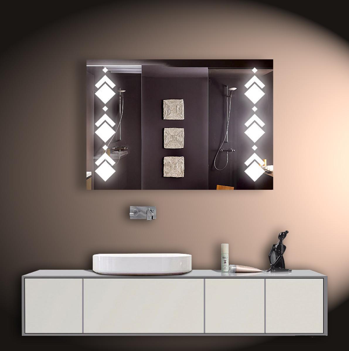 Зеркало LED со светодиодной подсветкой ver-3082 1000х700 мм